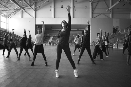 Beyonce Rehearses