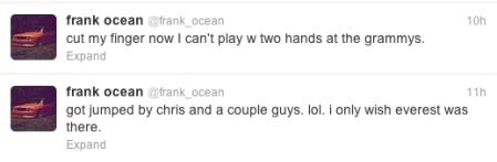 FRANK OCEAN TWEETS