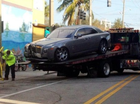 Rick Ros Crashes Car