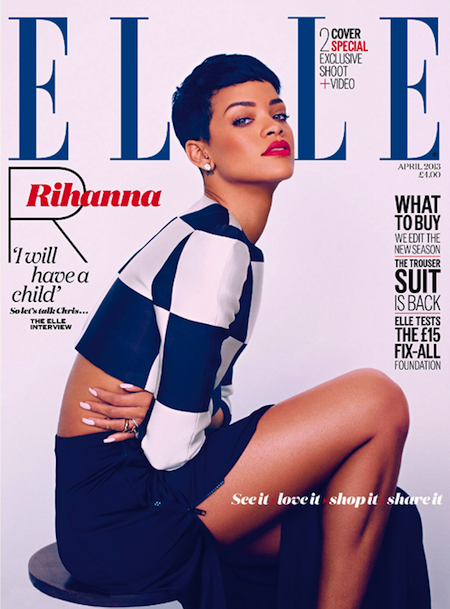 Rihanna Coves Elle UK