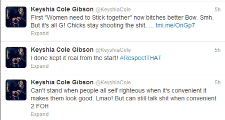 Keyshia Cole Tweets About Beyonce
