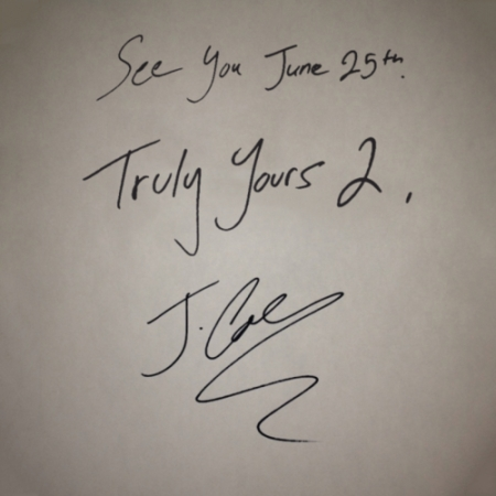 J. Cole Truly Yours 2 Artwork
