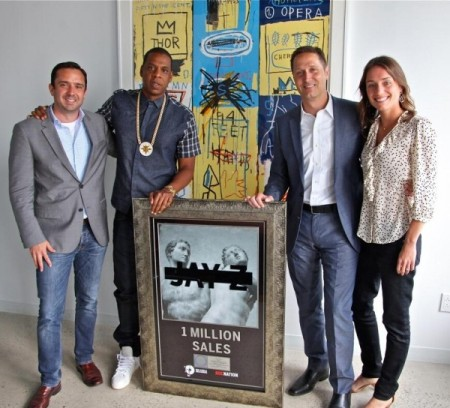 Jay-Z Receives Platinum Plaque For Magna Carta Holy Grail Album